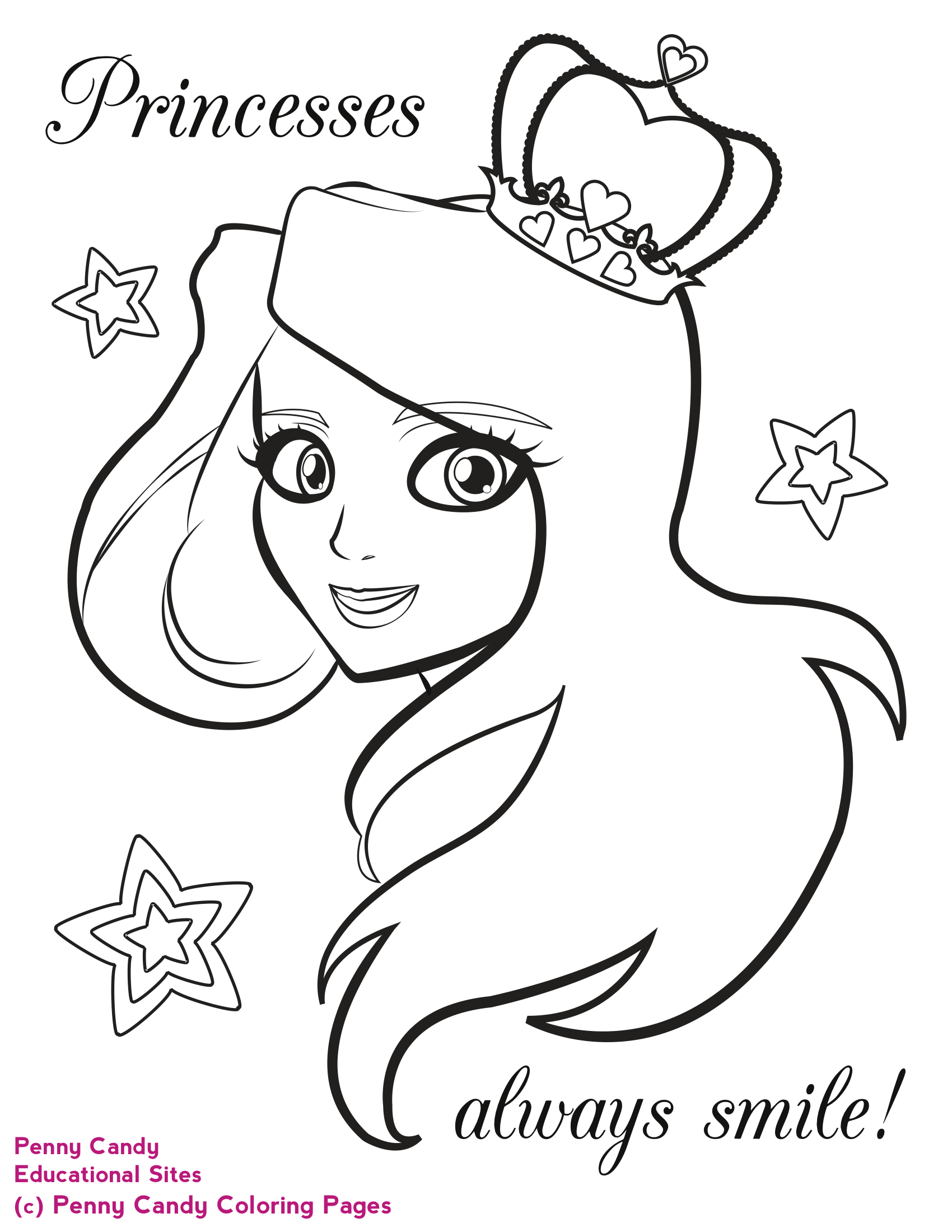 princess coloring pages Penny